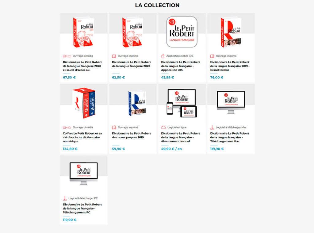權威的法法字典Le Petit Robert 紙本版,價格不斐又笨重,還可以當凶器