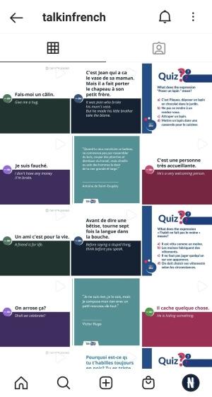學法文IG帳號推薦 Talk in French