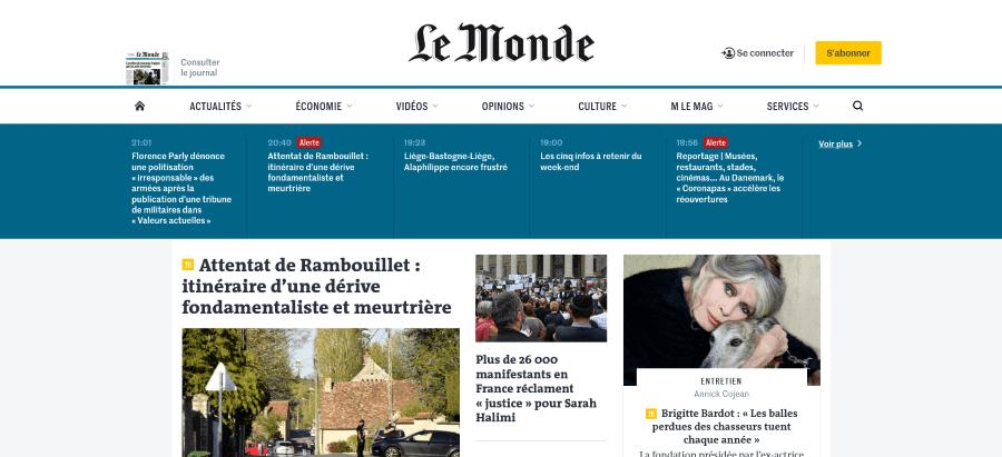 Le Monde 世界報